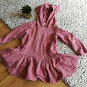 Other - Pink Sweatshirt Tunic with Ears